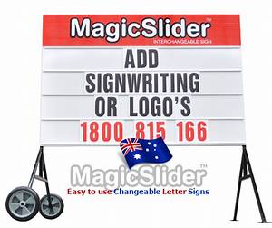 signs we sell the magicslider 39changeable sign39 because With signs you can change letters