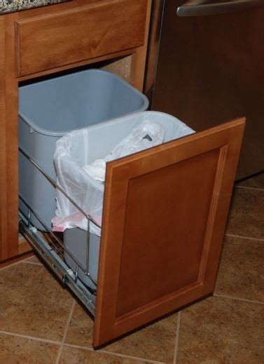 double garbage can cabinet double trash can cabinet garbage and recyclables