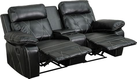 theaters with recliners reel comfort series 2 seat reclining black leather theater