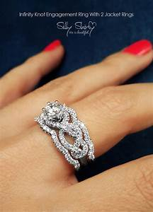 infinity engagement rings infinity knot engagement ring With 2 wedding bands with engagement ring