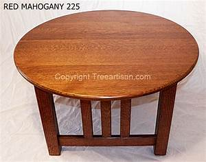 mission oak round coffee table quarter sawn 26 colors With round mission coffee table