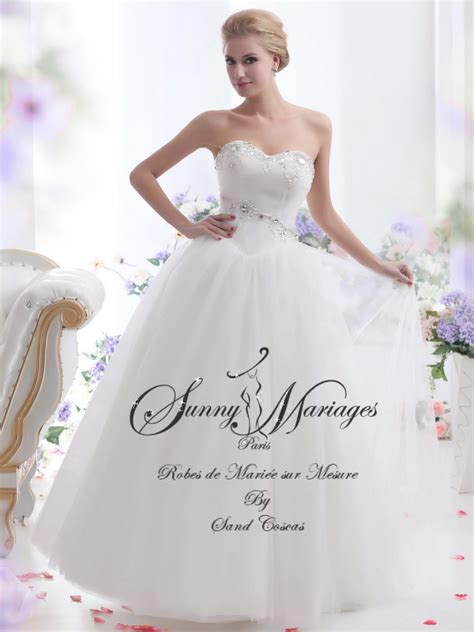 robe de mariée bustier strass robe de mari 233 e sur mesure bustier princesse mariage