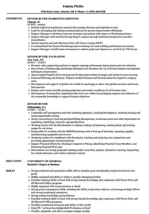 Buyer Resume by Senior Buyer Resume Sles Velvet