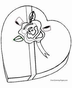 Valentine's Day coloring pages - Valentine Candy