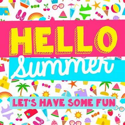 Summer Fun Hello Happy Card Cards Greeting