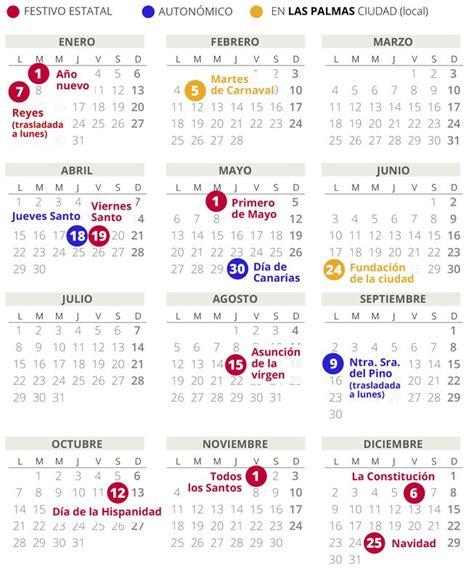 calendario laboral de las palmas del todos los