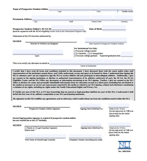 ncaa letter of intent ncaa college letter sle free pictures 12774