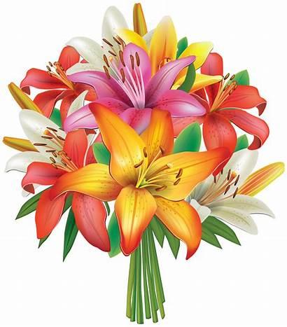 Bouquet Flowers Clipart Lilies Places Flower Clip