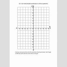 Plotting Coordinates In All Four Quadrants  Blank By Laurawalker79  Teaching Resources