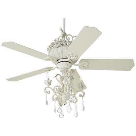 casa chic ceiling fan 52 quot casa chic rubbed white chandelier ceiling fan