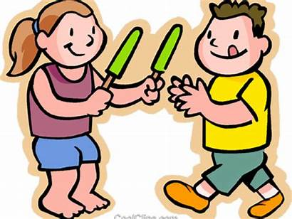 Sharing Cartoon Eating Clipart Popsicle Snack Transparent