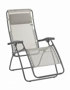 Lafuma Chaise Longue : lafuma chaise longue relax rsxa batyline beige seigle ~ Nature-et-papiers.com Idées de Décoration