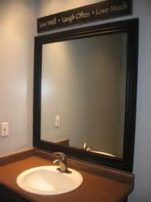 Framing Your Bathroom Mirror by Framed Mirror Blue Cricket Design
