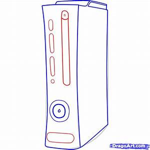 How To Draw An Xbox Draw An Xbox 360 Step By Step Video