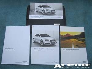 Origianal Audi A5 S5 Coupe W  Out Nav Owners Manual Set