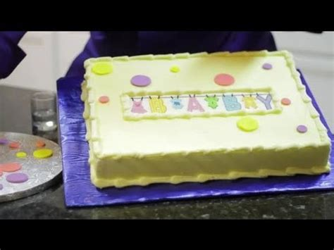easy to make baby shower cakes simple cakes to make for baby showers cake decorating youtube