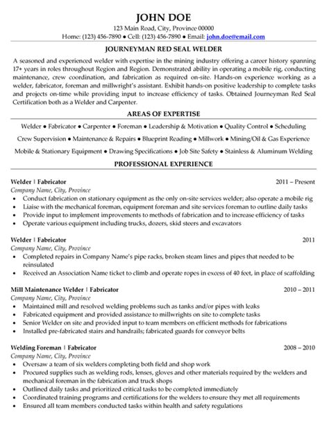 Welding Resume Sample | Home and family | Pinterest | Sample resume and Craft