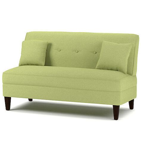 Armless Settees by Armless Loveseat Kiwi Green Settee Living Room Wood Sofa