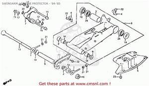 Honda Atc200x 1985  F  Usa Swingarm    Engine Protector