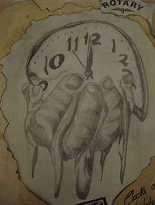 Melting clock sketch | My art and photography work ...