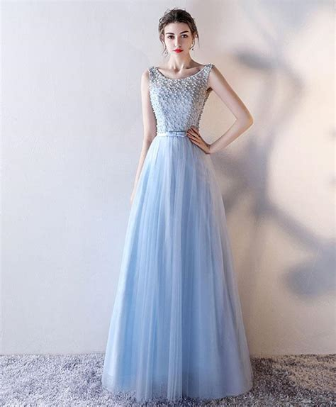 light blue homecoming dresses light blue tulle prom dress blue evening dress shopluu