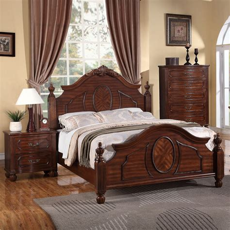 Arched Headboards by Classic Grand Style Cherry Wood Arched Headboard Footboard