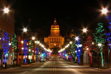 downtown des moines night scenes