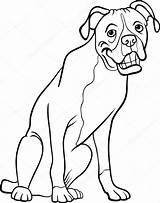 Boxer Coloring Dog Cartoon Pages Illustration Funny Clip Vector Disney Purebred Printable Mural Clipart Wall Maddie Liv Channel Template Illustrations sketch template