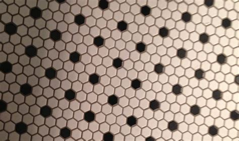 black and white hexagon tile floor and hexagonal black and