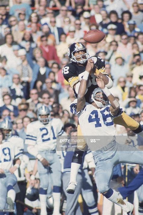 Super Bowl X Pittsburgh Steelers Lynn Swann In Action