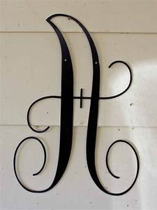 22 inch black script metal letter a door or wall With black metal letters for wall