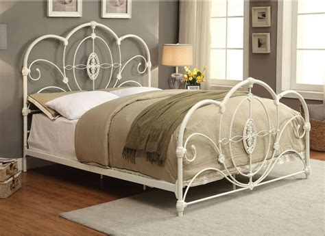 king size bed headboard and footboard king size bed frame white vintage metal style
