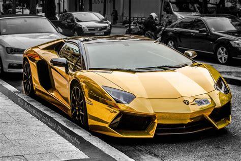 A Golden Lamborghini by 40 Lamborghini Aventador Wallpapers Hd Desktop Free