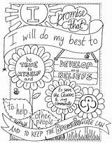 Scout Coloring Pages Law Promise Faba Newyork Rp Neo sketch template