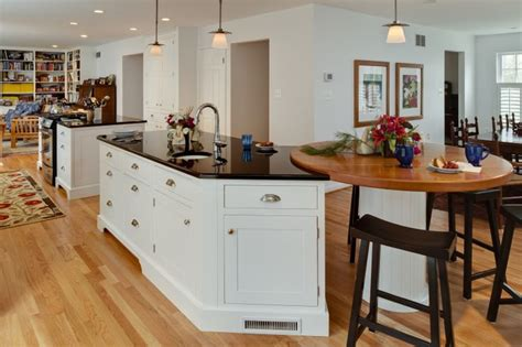 kitchen island ideas traditional kitchen wood top rounded island end for eat