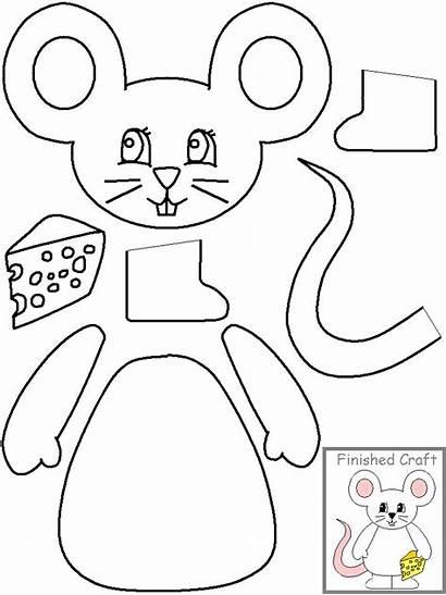 Paste Cut Mouse Craft Crafts Template Preschool