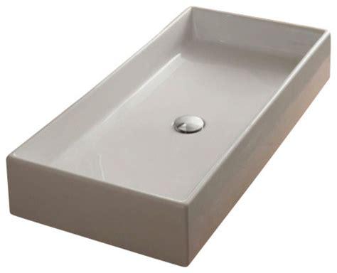 white rectangular vessel sink rectangular white ceramic vessel sink contemporary