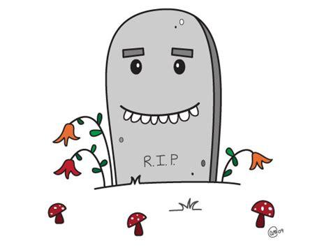 Cartoon Rip Gravestone