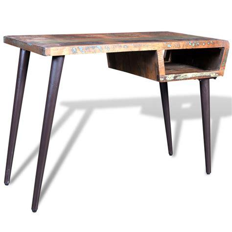 e bureau vidaxl co uk reclaimed wood desk with iron legs