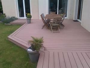 Bois Composite Pour Terrasse : terrasse bois composite dalle diverses ~ Edinachiropracticcenter.com Idées de Décoration