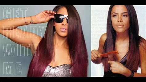 get ready with me sleek aaliyah inspired hair and makeup chinacandycouture youtube