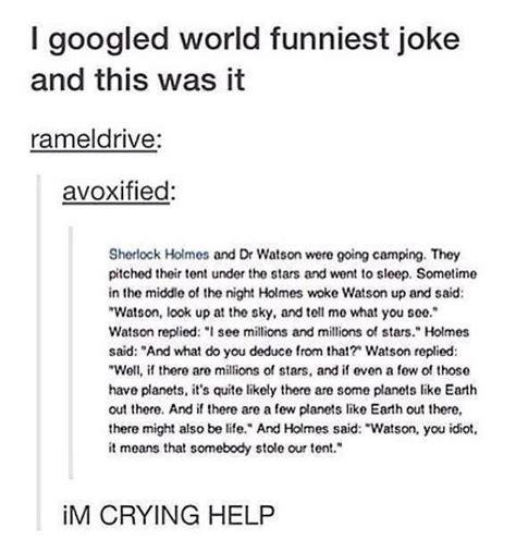 sherlock holmes jokes fandom