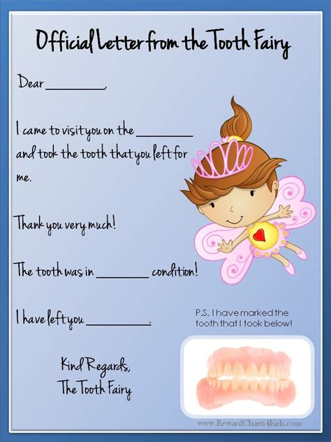 tooth fairy letter  baby girl pinterest tooth