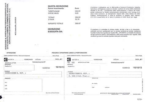 iscrizione di commercio costo attenzione alla truffa richiesta di pagamento di