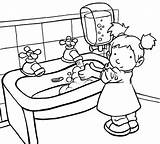 Coloring Pages Hygiene Personal Handwashing sketch template