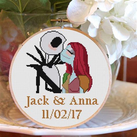 Sally And Jack Skellington Cross Stitch Pattern Disney