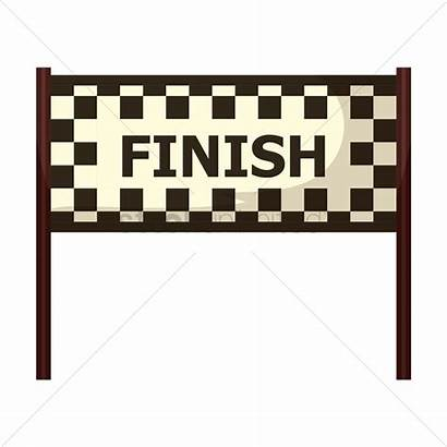 Finish Line Clipart Vector Race Track Circuit