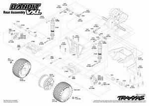Traxxas Bandit Vxl  2407  Rear Assembly