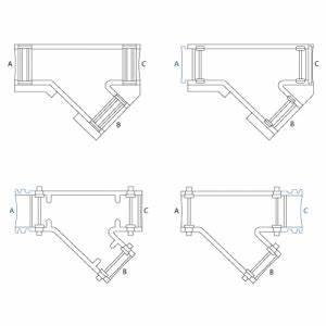 hinged y pieces hinged fittings wiring accessories With wiring accessories