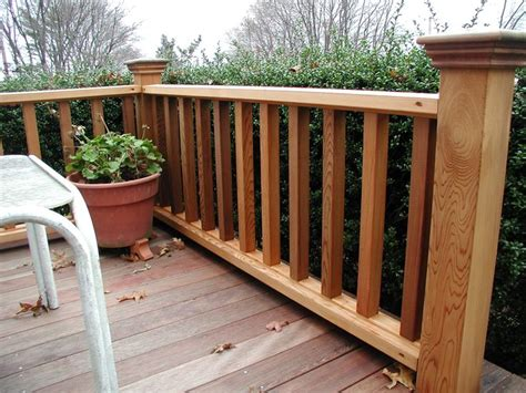pin  mountain laurel handrails  deck railing ideas wood deck railing deck railing design